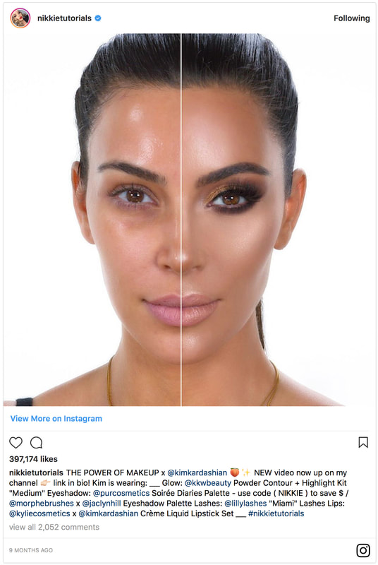 NikkiTurtorials, Nikkitutorials the power of makeup, the powerofmakeup, kim kardashian, kim kardashian no makeup, kim kardashian the power of makeup